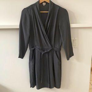 Wilfred Grey Franca Wrap Dress
